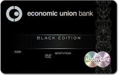 """Новая банковская карта World Master Card Black Edition от КБ """"Экономический союз"""" и MasterCard"""